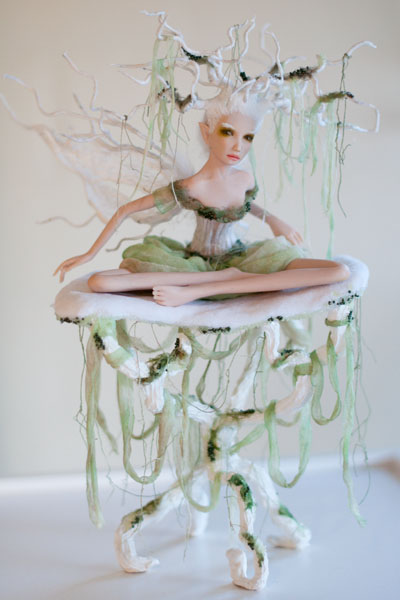 Dryad fairy sculpture