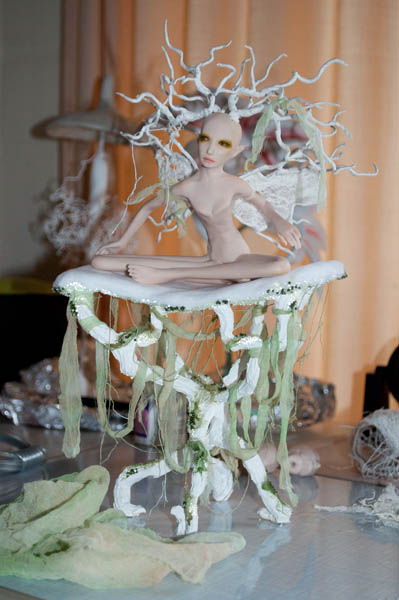 work in progress fairy sculpture